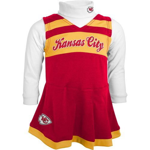 NFL Toddler Girls' Kansas City Chiefs Cheer Jumper Dress and Turtleneck Set