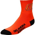 For Bare Feet Men's Oklahoma State University Team Color Quarter Socks