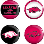 WinCraft University of Arkansas Buttons 4-Pack