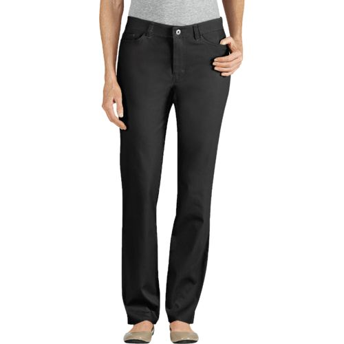 Dickies Women's Slim Fit Skinny Leg 5-Pocket Stretch Twill Pant