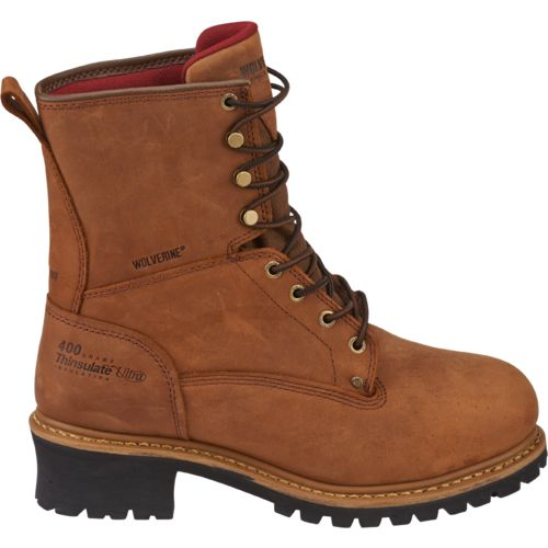 Wolverine Men's Snyder Insulated Waterproof Steel-Toe EH Logger Work Boots