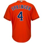 Majestic Men's Houston Astros George Springer #4 Cool Base Replica Jersey