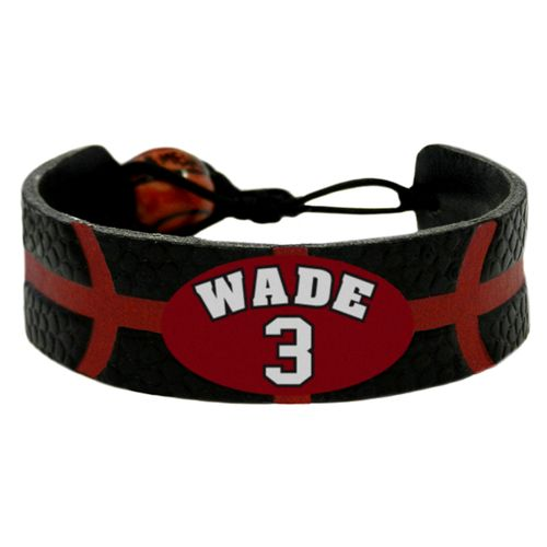 GameWear Adults' Miami Heat Dwayne Wade #3 NBA Jersey Bracelet