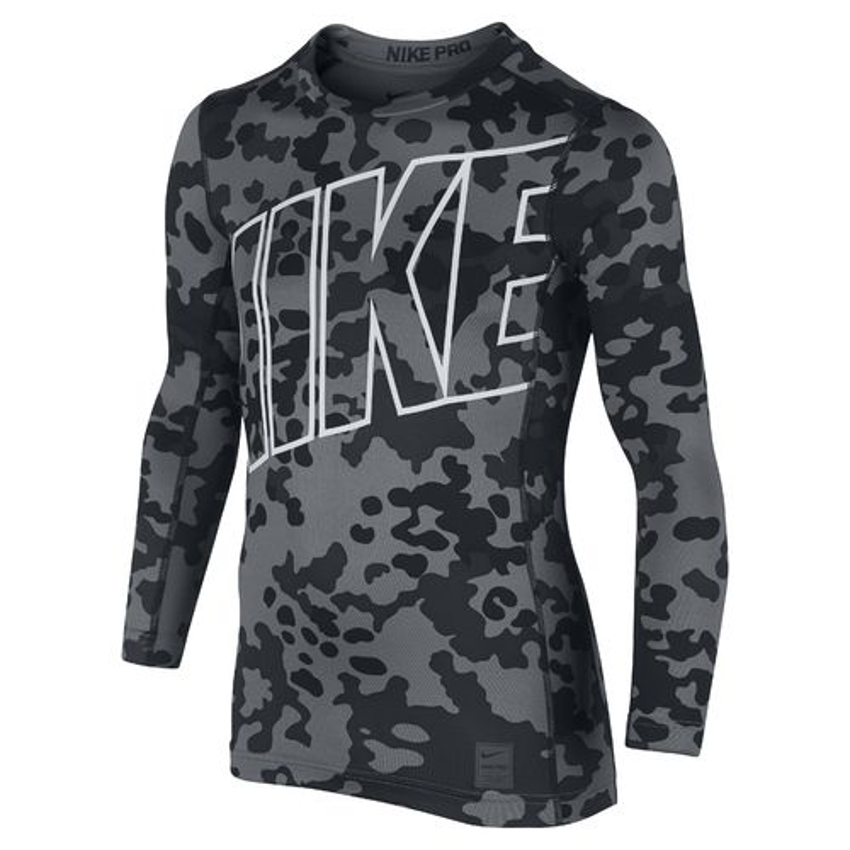 Nike Boys' Warm Allover Print Compression Crew Training