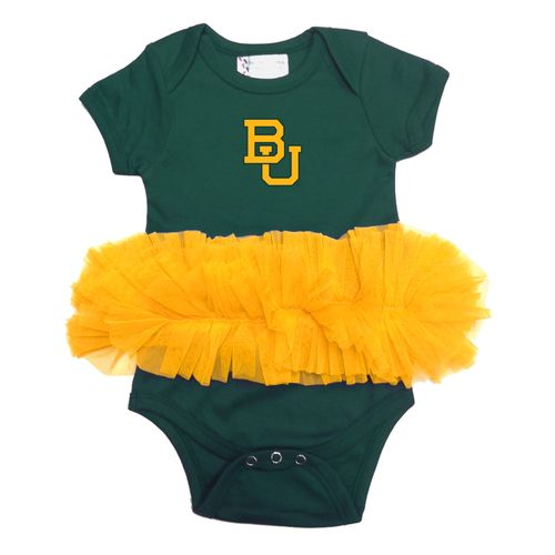 Two Feet Ahead Infants' Baylor University Tutu Creeper