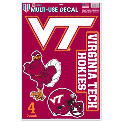 WinCraft Virginia Tech Multi-Use Decals 4-Pack