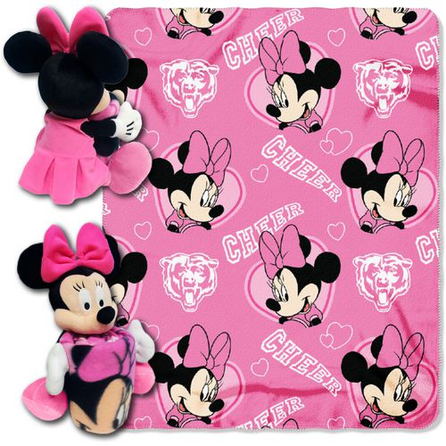 The Northwest Company Chicago Bears Minnie Mouse Hugger and Fleece Throw Set - view number 1