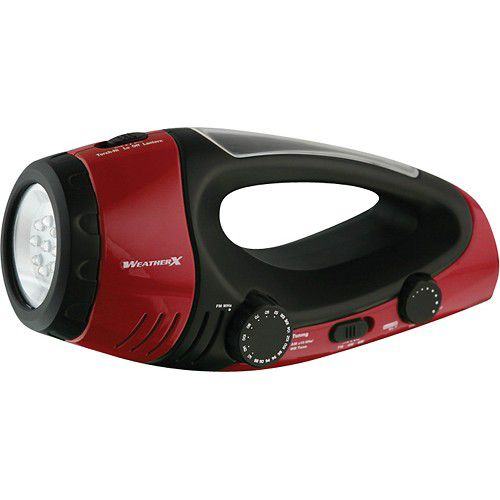 Weather X AM/FM Weather Radio LED Flashlight