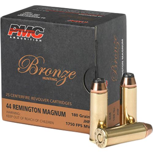 Display product reviews for PMC Bronze Handgun .44 Remington Magnum 180-Grain Centerfire Handgun Ammunition
