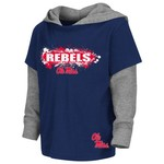 Colosseum Athletics Toddler Boys' University of Mississippi Splatter Hooded T-shirt