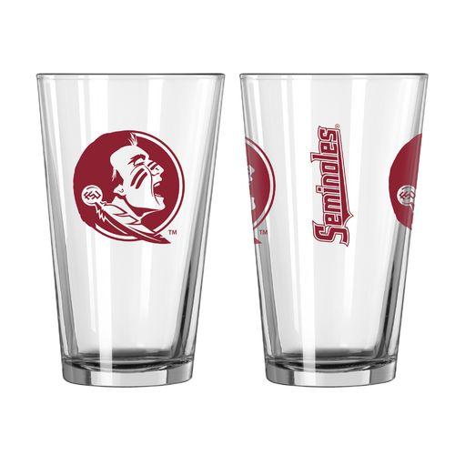 Boelter Brands Florida State University Game Day 16 oz. Pint Glasses 2-Pack