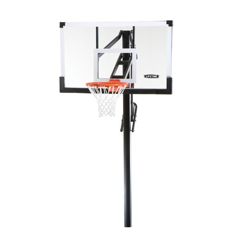 "Lifetime 54"" Tempered-Glass Inground Basketball Hoop"