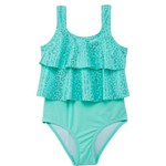 Org Kids Girls' Kitty Glitter 1-Piece Swimsuit