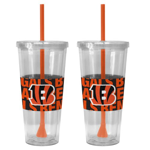 Boelter Brands Cincinnati Bengals Bold Neo Sleeve 22 oz. Straw Tumblers 2-Pack - view number 1