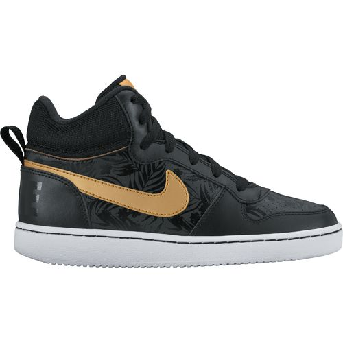 Nike™ Boys' Court Borough Mid Print (GS) Basketball Shoes
