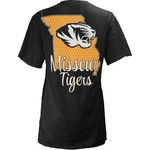 Three Squared Juniors' University of Missouri State Monogram Anchor T-shirt