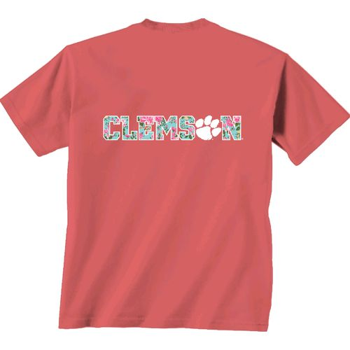 New World Graphics Women's Clemson University Floral T-shirt
