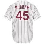 Majestic Men's Philadelphia Phillies Tug McGraw #45 Cooperstown Cool Base 1980 Replica Jersey