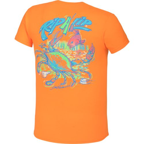 Rip a lip men 39 s crab t shirt academy for Rip a lip fish wear
