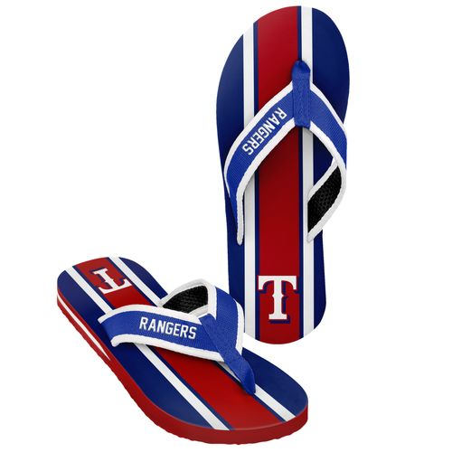 Forever Collectibles™ Men's Texas Rangers 2016 Contour Stripe Flip-Flops