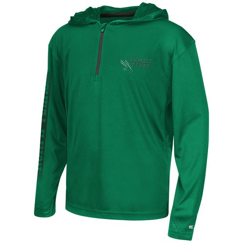 Colosseum Athletics™ Boys' University of North Texas Sleet 1/4 Zip Hoodie Windshirt