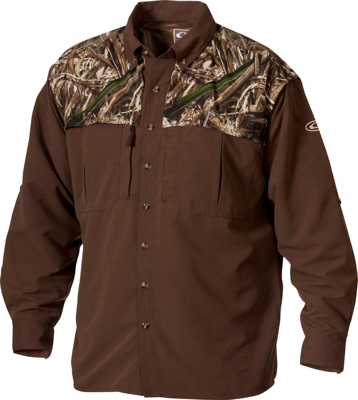 Drake Waterfowl Men's 2-Tone Whingshooter Long Sleeve Shirt
