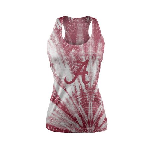 Chicka-d Women's University of Alabama Tie Dye Racerback Tank Top
