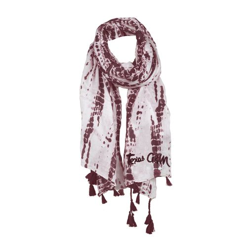 Chicka-d Women's Texas A&M University Tie Dye Scarf