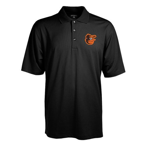 Antigua Men's Baltimore Orioles Phoenix Pointelle Polo Shirt