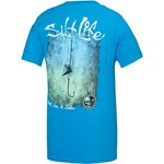 Salt Life Men's Hook Line and Sinker Fade Pocket T-shirt