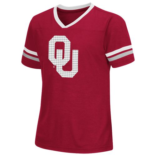 Colosseum Athletics™ Girls' University of Oklahoma Titanium T-shirt