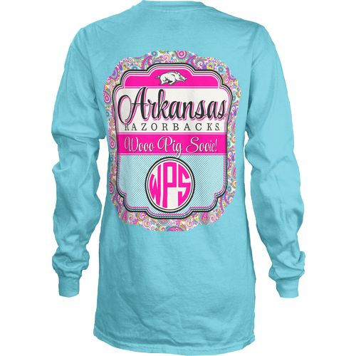 Three Squared Juniors' University of Arkansas Paisley Frame T-shirt