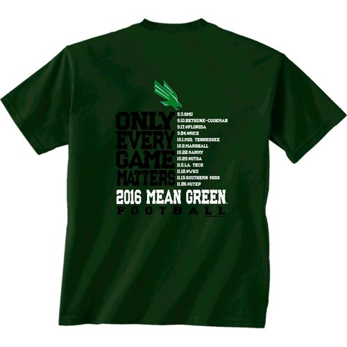 New World Graphics Men's University of North Texas Schedule T-shirt