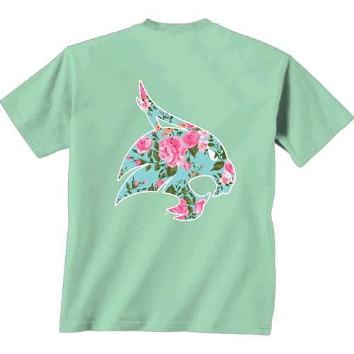 New World Graphics Women's Texas State University Floral T-shirt