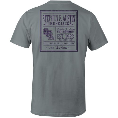 Image One Men's Stephen F. Austin State University Comfort Color Vintage Poster Short Sleeve T-s
