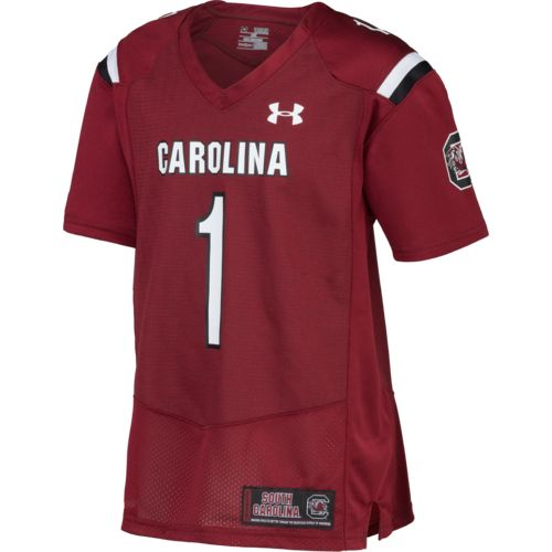 Under Armour™ Boys' University of South Carolina #1 Replica Home Football Jersey