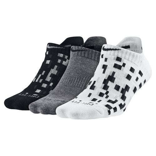Nike™ Women's Dri-FIT Graphic 2 No-Show Tab Socks 3-Pair