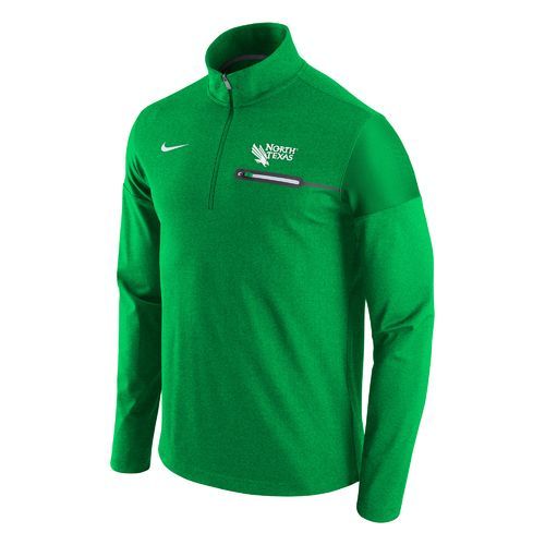 Nike™ Men's University of North Texas Elite Coaches 1/2 Zip Pullover