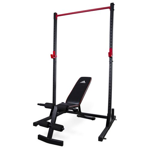 adidas™ Power Combo Squat Stand and Utility Weight Bench