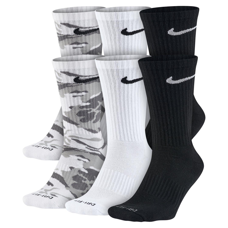 Academy.com deals on 6-Pack Nike Men's Dri-FIT Cushion Crew Socks