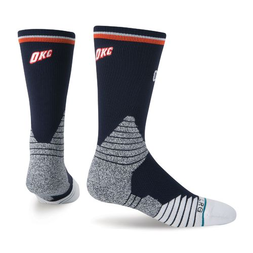 Stance Men's Oklahoma City Thunder Logo Crew Socks