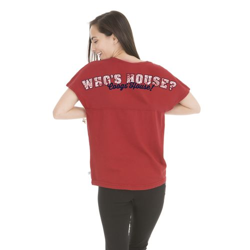 Venley Women's University of Houston Whose House Short Sleeve T-shirt