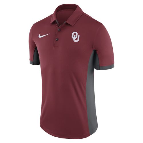 Nike Men's University of Oklahoma Dri-FIT Evergreen Polo Shirt - view number 1