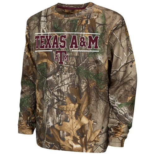 Colosseum Athletics™ Boys' Texas A&M University Pointer Long Sleeve Camo Shirt