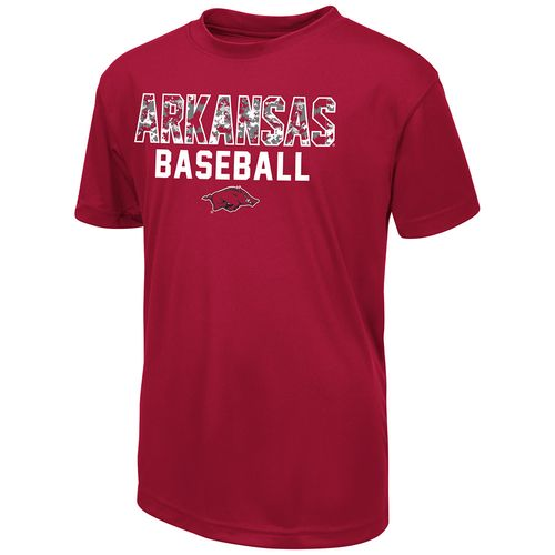 Colosseum Athletics Boys' University of Arkansas Digi Camo Baseball T-shirt