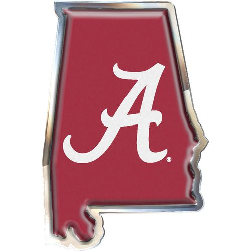 Stockdale University of Alabama Chrome State Shape Auto Emblem