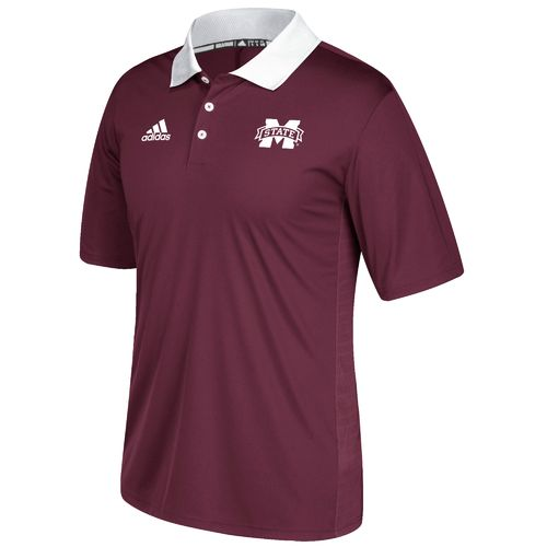 adidas Men's Mississippi State University Sideline Coaches Polo Shirt