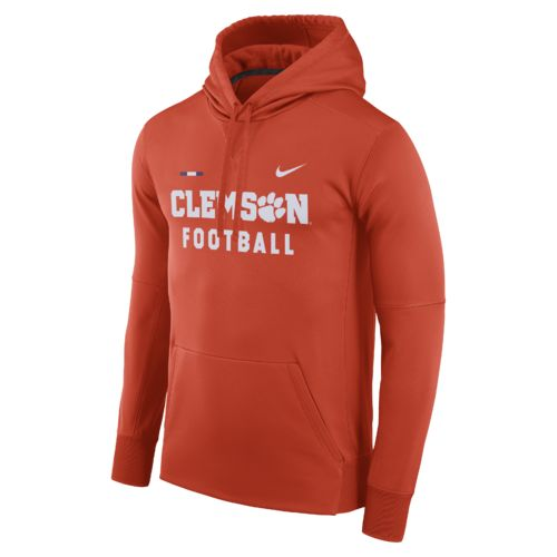 Nike Men's Clemson University Therma-FIT Pullover Hoodie