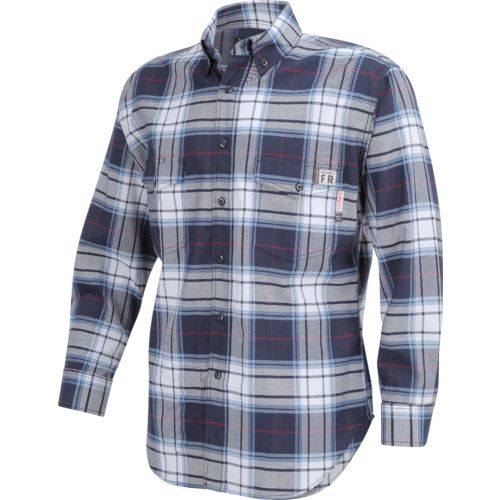 Wolverine Men's Flame Resistant Twill Plaid Shirt - view number 3