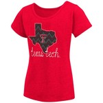 Colosseum Athletics™ Girls' Texas Tech University Tissue 2017 T-shirt - view number 1